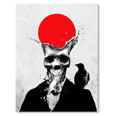 Americanflat 'Splash Skull' by Ali Gulec Graphic Art Wrapped on Canvas