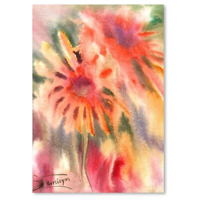 Americanflat 'Abstract Blanket Flowers' by Suren Nersisyan Painting Print on Wrapped Canvas