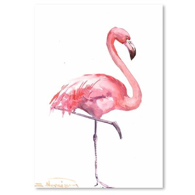 Americanflat 'Flamingos 2' by Suren Nersisyan Painting Print on Wrapped Canvas