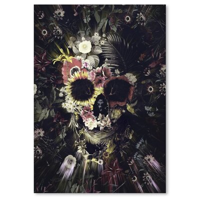 Americanflat Garden Skull Graphic Art on Wrapped Canvas