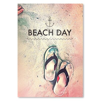 Americanflat Beach Day Graphic Art on Wrapped Canvas