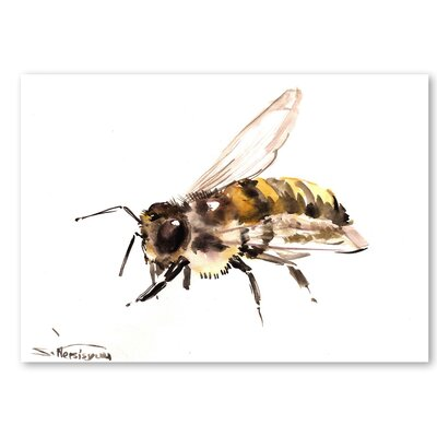 Americanflat 'Bee 4' by Suren Nersisyan Painting Print on Wrapped Canvas