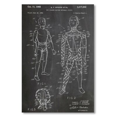Americanflat 'Toy Figure Joints' by House of Borders Graphic Art Wrapped on Canvas