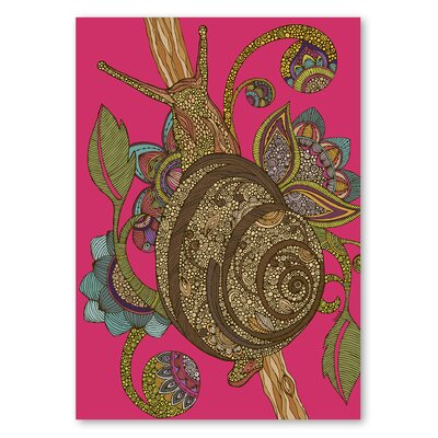 Americanflat 'Escargopolooza' by Valentina Ramos Graphic Art on Wrapped Canvas