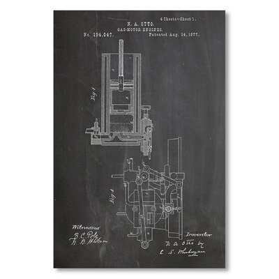 Americanflat 'Combustible Engine' by House of Borders Graphic Art on Wrapped Canvas