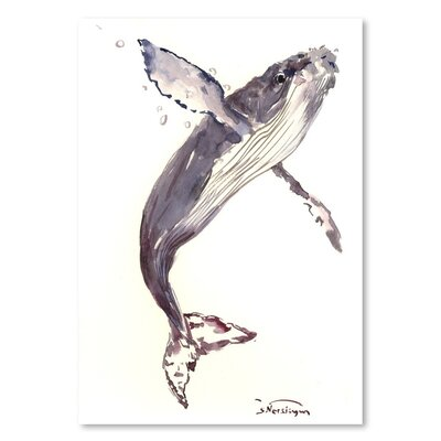 Americanflat 'Humpback Whale 21' by Suren Nersisyan Art Print Wrapped on Canvas