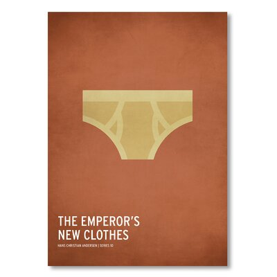 Americanflat 'Emperors New Clothes' by Christian Jackson Graphic Art on Wrapped Canvas