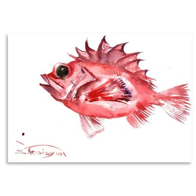 Americanflat 'Big Eye Redfish' by Suren Nersisyan Painting Print on Wrapped Canvas