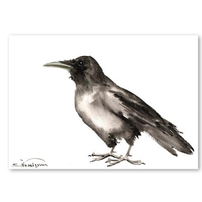 Americanflat 'Crow IV' by Suren Nersisyan Painting Print on Wrapped Canvas