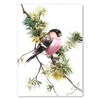 Americanflat 'Bullfinch II' by Suren Nersisyan Painting Print on Wrapped Canvas