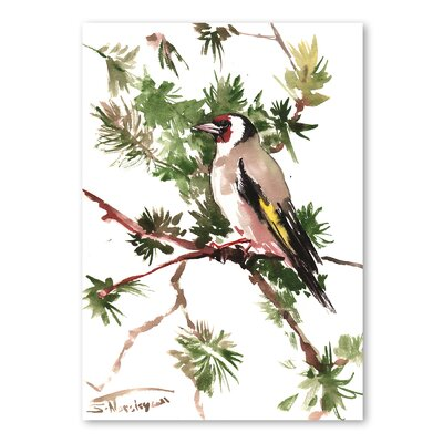 Americanflat 'Male Goldfinch' by Suren Nersisyan Graphic Art on Wrapped Canvas