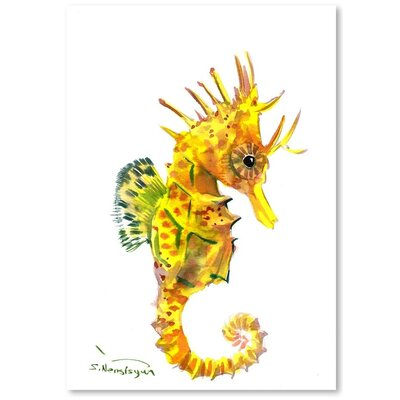 Americanflat 'Baby Seahorse' by Suren Nersisyan Graphic Art on Wrapped Canvas