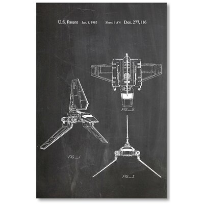 Americanflat 'Imperial Shuttle' by House of Borders Graphic Art Wrapped on Canvas