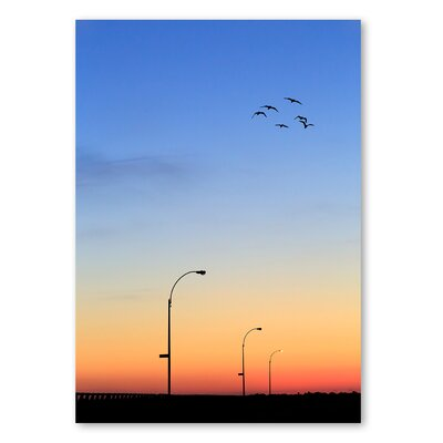 Americanflat 'Evening Birds' by Lina Kremsdorf Photographic Print on Wrapped Canvas
