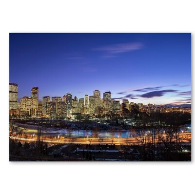 Americanflat 'Skyscrapers 3' by Lina Kremsdorf Photographic Print on Wrapped Canvas