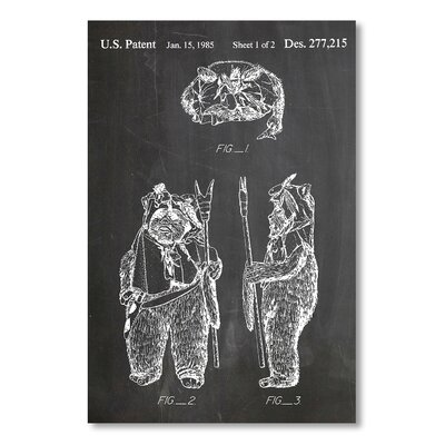Americanflat 'Ewok' by House of Borders Graphic Art on Wrapped Canvas