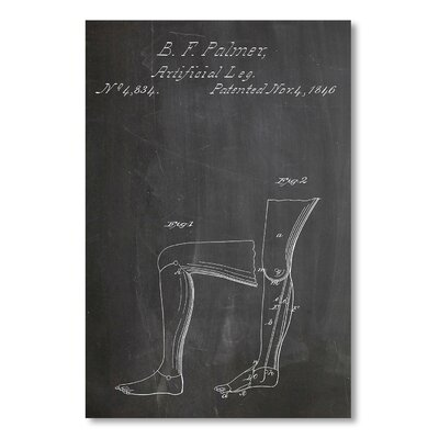 Americanflat 'Artificial Leg' by House of Borders Graphic Art on Wrapped Canvas