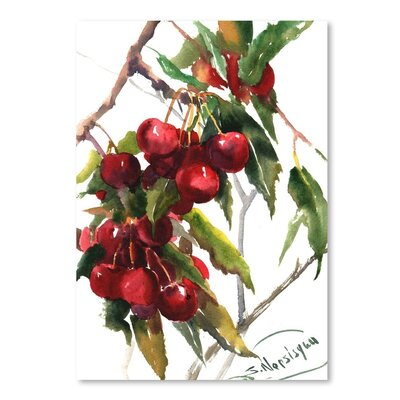 Americanflat Cherries' by Suren Nersisyan Graphic Art Wrapped on Canvas
