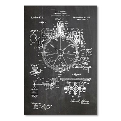 Americanflat 'Compass' by House of Borders Graphic Art on Wrapped Canvas