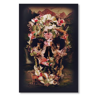 Americanflat 'Jungle Skull' by Ali Gulec Graphic Art Wrapped on Canvas