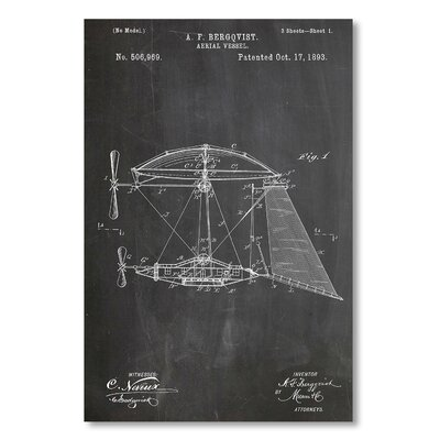 Americanflat 'Aerial Vessel' by House of Borders Graphic Art on Wrapped Canvas