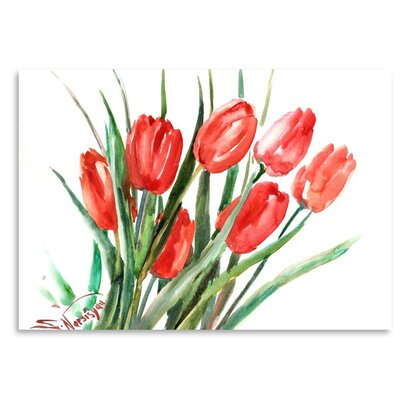 Americanflat 'Tulip' by Suren Nersisyan Graphic Art on Wrapped Canvas