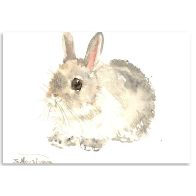 Americanflat Bunny 2 by Suren Nersisyan Graphic Art on Wrapped Canvas