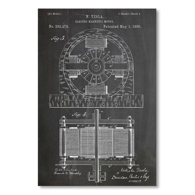Americanflat 'Electric Magnetic Motor' by House of Borders Graphic Art on Wrapped Canvas