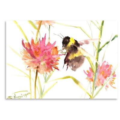 Americanflat 'Bumblebee' by Suren Nersisyan Graphic Art on Wrapped Canvas