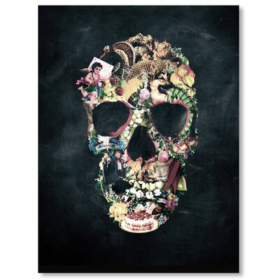 Americanflat Vintage Skull  by Ali Gulec  Graphic Art Wrapped on Canvas