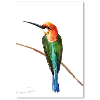Americanflat 'Green Bee Eater 3' by Suren Nersisyan Painting Print on Wrapped Canvas