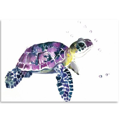 Americanflat Sea Turtle Graphic Art on Wrapped Canvas