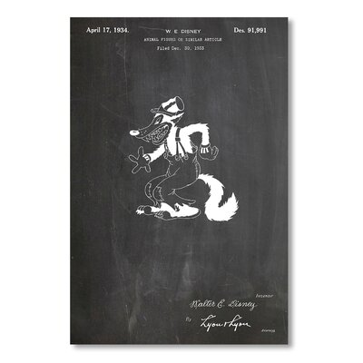 Americanflat 'Disney Wolf' by House of Borders Graphic Art on Wrapped Canvas