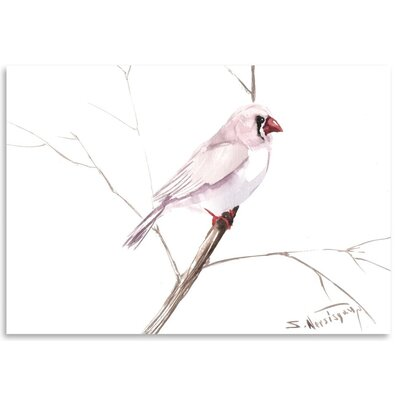 Americanflat Zabrafinch' by Suren Nersisyan Graphic Art Wrapped on Canvas