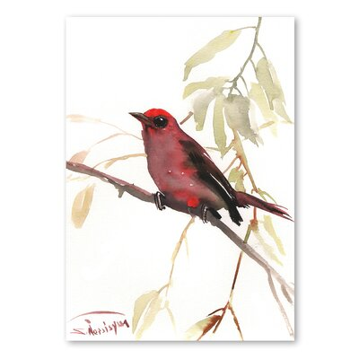 Americanflat 'Summer Tanager' by Suren Nersisyan Painting Print on Wrapped Canvas