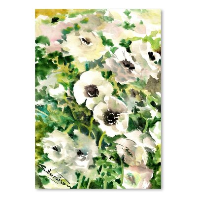 Americanflat 'White Buttercups' by Suren Nersisyan Graphic Art on Wrapped Canvas
