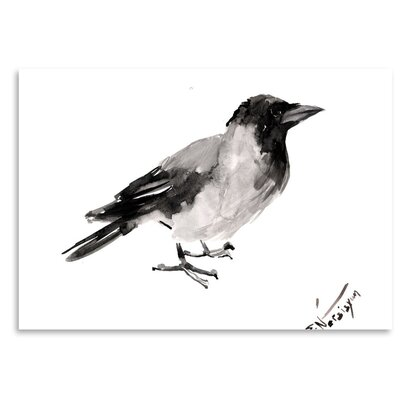 Americanflat 'Hodded Crow 4' by Suren Nersisyan Painting Print on Wrapped Canvas