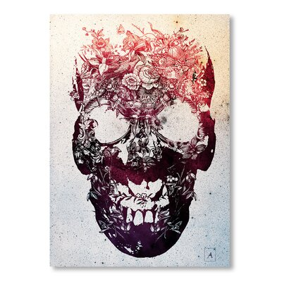 Americanflat 'Floral Skull' by Ali Gulec Graphic Art on Wrapped Canvas