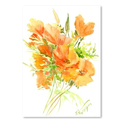 Americanflat California Poppies' by Suren Nersisyan Graphic Art Wrapped on Canvas