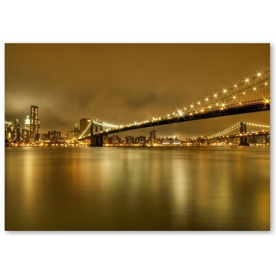Americanflat 'Bridge Night 2' by Lina Kremsdorf Photographic Print on Wrapped Canvas