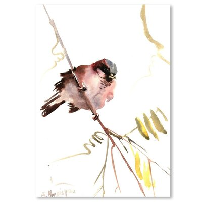 Americanflat 'Male Sparrow' by Suren Nersisyan Painting Print on Wrapped Canvas