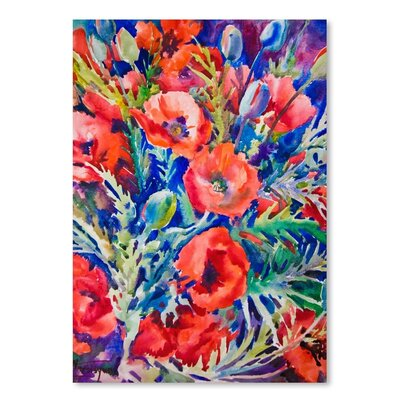Americanflat Poppies' by Suren Nersisyan Graphic Art Wrapped on Canvas