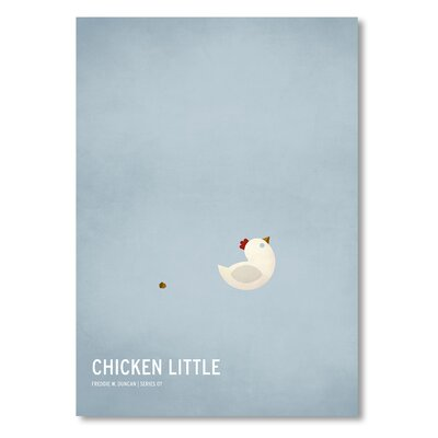 Americanflat 'Chicken Little' by Christian Jackson Graphic Art on Wrapped Canvas
