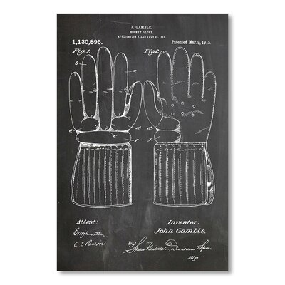 Americanflat 'Hockey Glove' by House of Borders Graphic Art on Wrapped Canvas