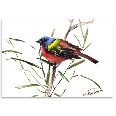 Americanflat 'Painted Bunting 3' by Suren Nersisyan Art Print Wrapped on Canvas