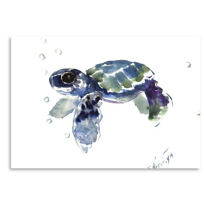 Americanflat 'Babe Sea Turtle' by Suren Nersisyan Painting Print on Wrapped Canvas
