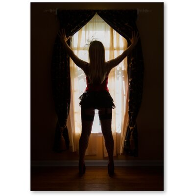 Americanflat 'Window Girl' by Lina Kremsdorf Photographic Print on Wrapped Canvas