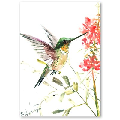 Americanflat 'Hummingbird 5' by Suren Nersisyan Graphic Art on Wrapped Canvas