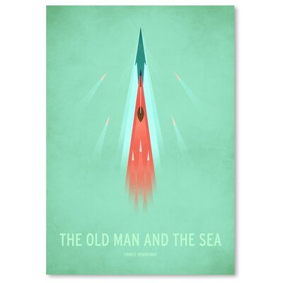 Americanflat The Old Man and the Sea Graphic Art Wrapped on Canvas