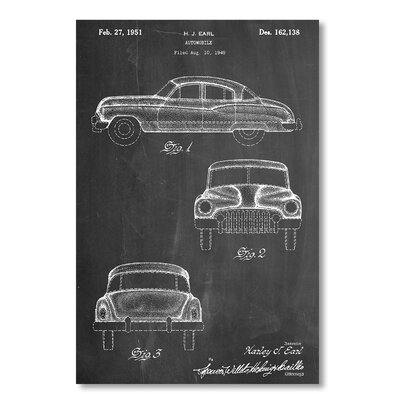 Americanflat 'Buick 1949' by House of Borders Graphic Art Wrapped on Canvas